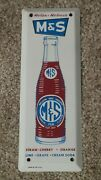 Vintage Mands Beverages Painted Advertising Sign Door Push/pull Nos