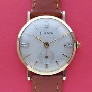 Bulova Diamond Dial With Subseconds Watch 32.5mm Mens