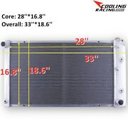 3 Row Radiator For 1968-1973 Chevelle / 68-77 El Camino /1971-1975 Chevy Bel Air