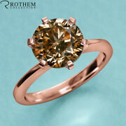 1.50 Ct Chocolate Diamond Engagement Ring Rose Gold 14k Solitaire Si2 54553228