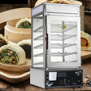 1.2kw Commerical Bun Steamer Warmer Electric Food Display Automatic Temp Control