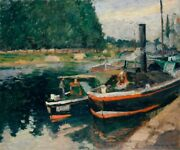Image-art-print-barges-at-pontoise-pissarro-46x38in-print-on-paper-canvas-stret