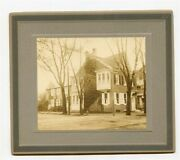 Merritt House Photo On Board Main And Grant In Mt Holly New Jersey Late1800's