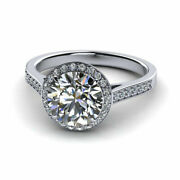 Sale 0.74 Ct Real Diamond Engagement Band Set Solid 950 Platinum Ring Size 5 6 7