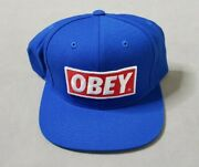 Obey Logo Hat Baseball Snapback Embroidered Blue/red