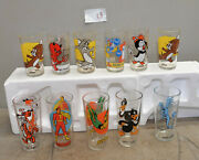 11 Vintage Pepsi Glasses Looney Tunes And Super Series And More 10 Different L9