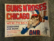 Guns And Roses Official Lithograph From Wrigley Field Chicago 09/16/21 149/500