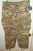 Us Army Multicam Ocp Fr Flame Insect Resistant Pants Trousers Large/x-short Nwt