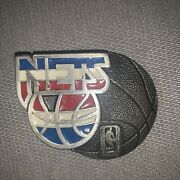 Vintage 1994 New Jersey Nets Belt Buckle 2247 Gap Made In Usa Rare Licensed Nba