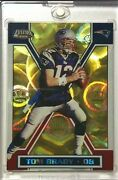 2001 Tom Brady Pacific Exclusive Gold Parallel Refractor 7x Superbowl Champ