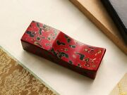 Wancher Tsugaru Lacquer Fountain Pen Pillow Red Raised Pen Stand Place Psl