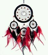 Handmade Dream Catcher Hanging With Rattan Bead Feathers Wall Car Decoration