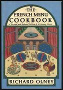 The French Menu Cookbook {revised Edition} By Richard Olney 1985 Hc Fe Nf/vg+