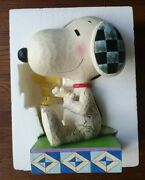 Peanuts - Snoopy Woodstock Friendship Comes In All Sizes Figurine By Jim Shore