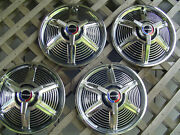 1965 65 Ford Mustang Four Hubcaps Wheelcovers Center Caps Fomoco Spinner Vintage