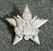 Wwi Us Army General Staff Officers Branch Collar Insignia Device Pin Back Orig.