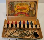 Reliance Vintage 1930s C 6 String In Box Decorative Christmas Lights No. 117