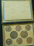 10-medal Wood Boxed Set Of Rare Napoleon Medals By Andrieu 1800's