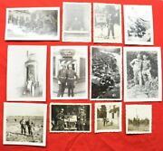 Ww2 Photograph Lot Of 12 Film Developed Bandw Photos Mpand039s Germany Soldiers Jeep 3
