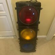 """Huge Vintage Traffic Stop Light 44"""" Tall Eagle Signal Corp. Electrified Works"""