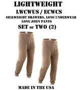Lot Of 2 Us Military Polypro Thermal Underwear Lwcwus Ecwcs Silkweight S Pants