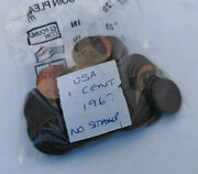 1967 Usa 1 Cent No Stamp One Cent Circulated Condition Vat Receipt Given