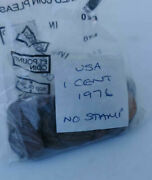 1976 Usa 1 Cent No Stamp One Cent Circulated Condition Vat Receipt Given