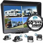Backup Camera With Large 10.1'' Monitor And Dvr For Rv Truck Trailer Rear Side