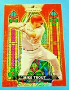 ⚾️mike Trout 2021 Red Mojo Stained Glass-sp Card /149. L.a. Angels