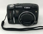 Canon Powershot Sx110 Is 9.0mp Digital Camera Black Pc1311 Tested And Working