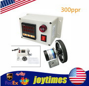 300ppr Digital Electronic Length Meter Counter Rotary Encoder Wheel Roll Measure