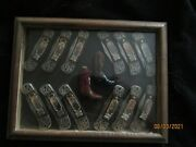 Franklin Mint Legends Of The Old West Knives Set Of 12 With Case