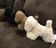 Pottery Barn Cozy Teddy Faux Fur Dog Pillow Tobacco Neutral Black Sold Out Nwt