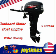 246cc 2 Stroke Outboard Motor Engine Water Cooling Short Shaft For Fishing Boat
