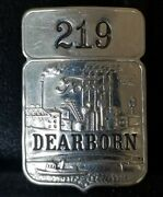 Rare Vintage Ford Dearborn Plant Employee Id Badge 219