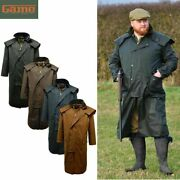 Menand039s Game Stockman Long Cape Horse Riding Wax Country Walks Coat / Jacket