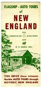 American Airlines Flagship Auto Tours Of New England Brochure 1950