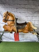 Vintage 1950andrsquos Wonder Horse Galloping Spring Horse Very Rare Style Great Cond