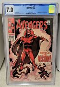 Avengers 57 1968 Cgc 7.0 - 1st Appearance Of The Vision Marvel Comics Key