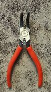 225g Proto 6-5/16 Bent Nose Needle Nose Pliers With Plastisol Grips 78anddeg Angle