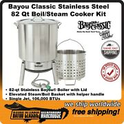 Bayou Classic 82 Quart Stainless Steel Boiler Cooker Steam Complete Kit Kds-982