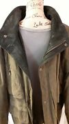 Structure Suede Leather Jacket Large Lined With Zip And Snap Closure Snap Pockets