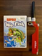 Rapala We Fish Nintendo Wii 2009 Complete With Fishing Rod