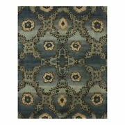 Feizy Amzad 8and0396 X 11and0396 Hand Knotted Gradient Wool Area Rug In Deep Teal Blue