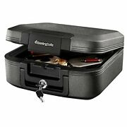 Sentrysafe Chw20221 Fireproof Box And Waterproof Box With Key Lock 0.28 Cubic...