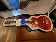 2013 Gibson Midtown 4 String Semi-hollow Bass Guitar Cherry Red Gloss With Ohc