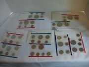 5 Us Mint Uncirculated Coin Sets 1977-1981,56 Coins Total, Lot Cs1