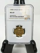 1988 10 Gold Eagle Ngc Ms 69. Rare Date Just Graded Highly Wanted. Ships Free
