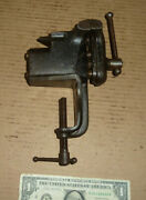 Vintage Clamp On Vise M F Co.no.1700,millers Falls,anvil On Top,2-12 Wide Jaws