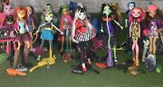 Monster High And Ever After High Fashion Dolls Lot Of 14 Dolls Plus Stands Acessor